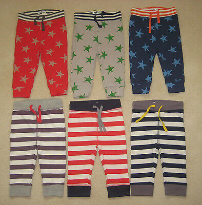 New Mini Baby Boden Essential Jersey Trousers Joggers 0-3 years Stars Stripes