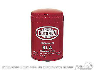 Red Rotunda Oil Filter Early 1960's Ford Lincoln Mercury 260 289 352 427 Mustang