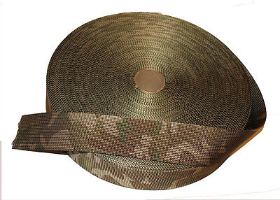 "Double Sided MTP /Multicam Camouflage Military Spec 50mm / 2"" Webbing - UK Woven"