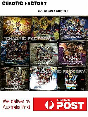 YUGIOH 200 bulk cards repack! [20 holo incld] ALL GENUINE & with Booster packs!!