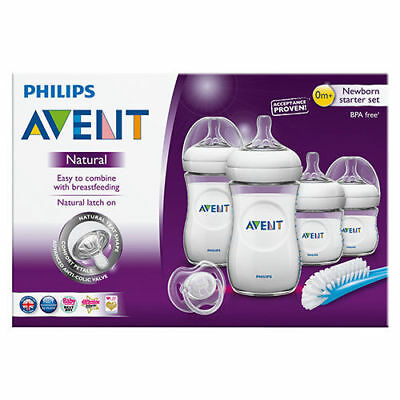 Best Price! Philips Avent Natural Newborn Starter Set Bottle Brush Teats Bottles