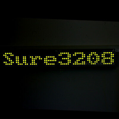 2pcs 32X08 3208 Green LED 5mm Dot Matrix Display Information Board HT1632C