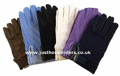 ALL SIZES Horse Riding Gloves Cotton Pimple Palm Dublin Track Gloves