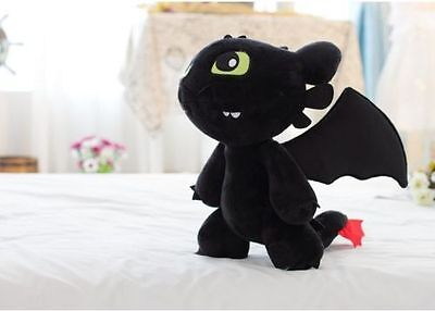 12'' How to Train Your Dragon Toothless Night Fury Stuffed Animal Plush Toy Doll