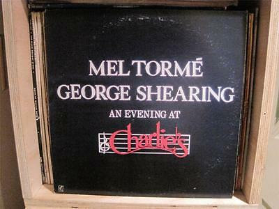 "Mel Torme George Shearing ""An Evening At Charlie's"" 1984 12"" Vinyl LP CJ248 RS35"