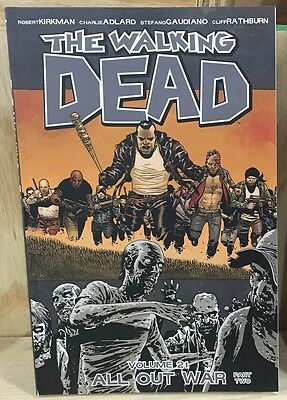THE WALKING DEAD Graphic Novel Volume 21 Image TPB Comic Book All Out War Part 2