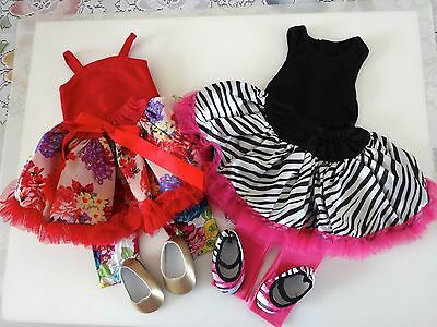 """NEW-DOLL Skirt Sets with Shoes _Lot #117 fit 18""""Doll such as American Girl Doll"""