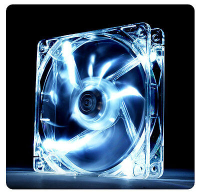 ThermalTake Pure 12, 120mm 12cm White LED, 19.5dBA, 40.997 CFM PC DC Case Fan