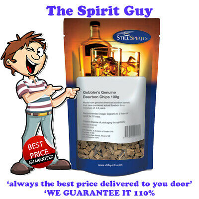 GOBBLERS GENUINE OAK CHIPS 100G BAG @ $6.49 each By STILL SPIRITS - 50162