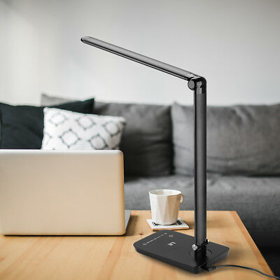 LE 8W Touch Sensor Flexible Dimmable LED Desk Table Lamp Bedside Reading light