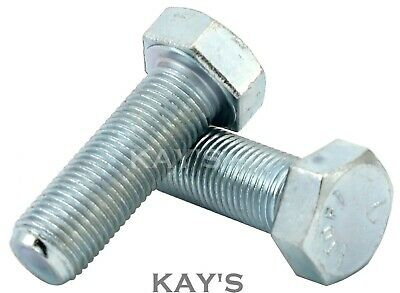 Unf Set Screws Fully Threaded Hexagon Bolts Zinc Plated, 1/4,5/16,3/8,7/16,1/2""