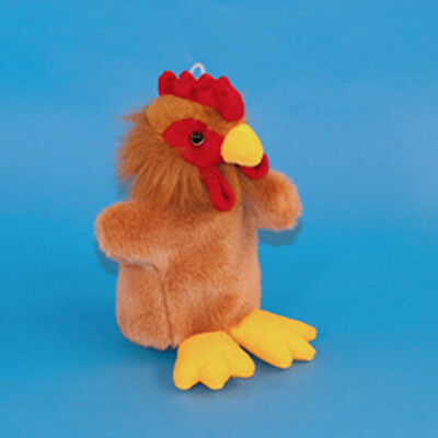 Chicken Hand Puppet Cockerel Soft Toy Children's Plush Toy Game Poultry Chick