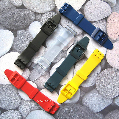 12mm/14mm Resin Plastic Watch Strap [LADIES SIZE] Fits Swatch + New Pins