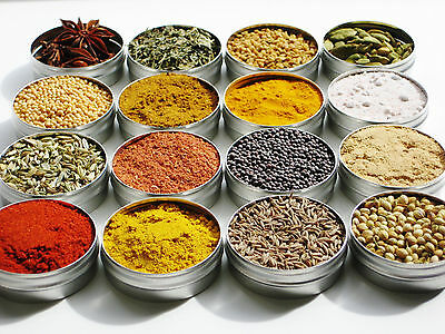 Indian Spice Spices Refill Pack   30 spices in a box   25g / 50g / 100g each