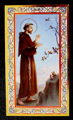 SANTINO SAN FRANCESCO DI ASSISI    IMAGE PIEUSE - HOLY CARD-  Heiligenbild