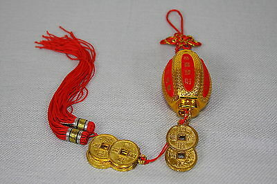 Chinese Lantern Mystic Knot Tassel With Gold Coins Chinese New Year Feng Shui
