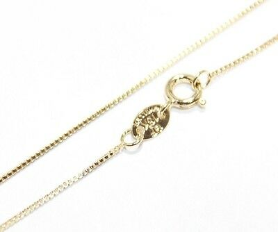 18K Gold Plated Necklace BOX Chain 1 mm
