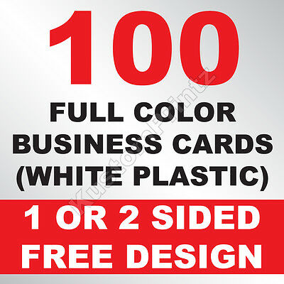 100 Custom Full Color Plastic Business Cards | Rounded Corners | Free Design
