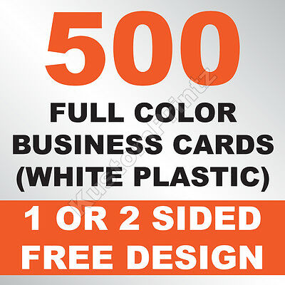500 Custom Full Color Plastic Business Cards | Rounded Corners | Free Design