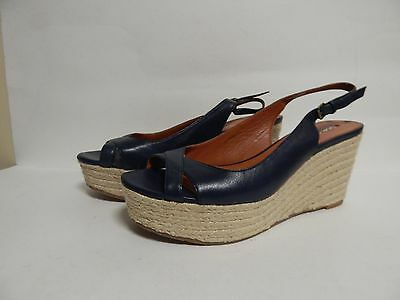 69f83c5acff Via Spiga Luciana Platform Wedge Espadrille Sandal 10 M Navy New without Box