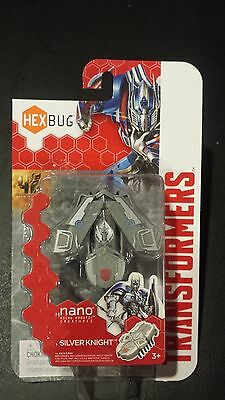 Hasbro Hex Bug Nano Transformers Silver Knight Save 5% Worldwide Fast Ship