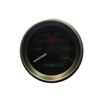 "Saas 52Mm 2"" Inch Black Face Electric Oil Pressure Gauge Multi Colour New"