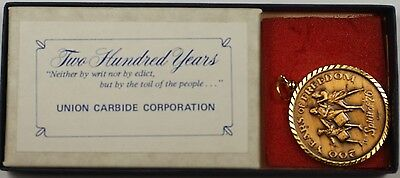 1976 Two Hundred Years of Freedom Bronze Pendant in Box with COA