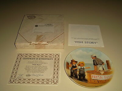 Fish Story 1983 Collectors Plate Friends I Remember Series Jeanne Down Knowles