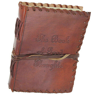 The Book of Good Thoughts Handmade Leather Blank Journal Diary