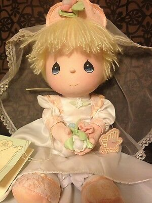 1987 Precious Moments Wedding Collectable Doll- makes a CUTE bridle gift!