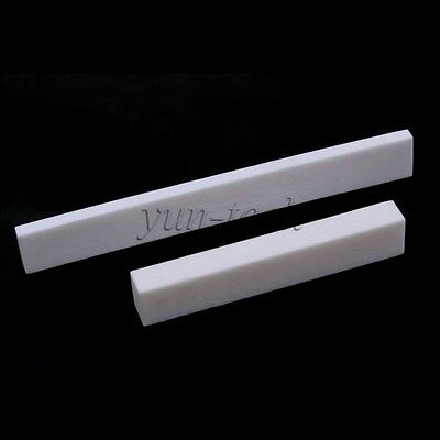 Bone Acoustic Classic Guitar Bass DIY Blank Nut Saddle Set
