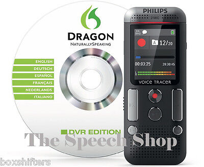Philips DVT2700 4GB Digital Voice Tracer + Dragon Software **Brand New In Box**