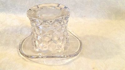 """Fostoria 3"""" Early American Clear Top Hat"""