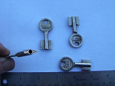 one  Vintage  ABUS  padlock skeleton KEY BLANK