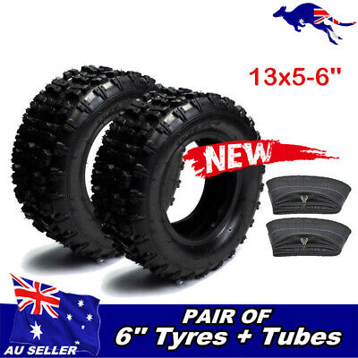"2x 13X5-6 Tyre/ ire Tube 6"" Ride on Mower GK160B Slider Go Kart ATV Quad Scooter"