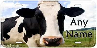 Cow Any Name Personalized Novelty Car Auto License Plate P01