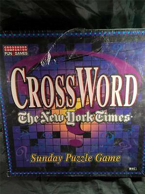 The New York Times Crossword Sunday Puzzle Game 1997~New & Factory Sealed!
