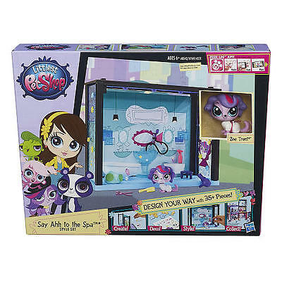 Littlest Pet Shop Yummy Treat Bar Style & Say Ahh to the Spa 35 pieces each Sets