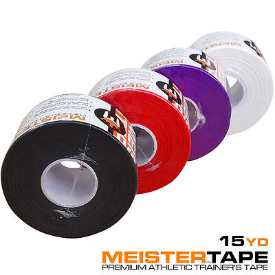"""15YD PREMIUM ATHLETIC TRAINER'S TAPE - 1.5"""" Meister Sports Coach Tape Ankles NEW"""