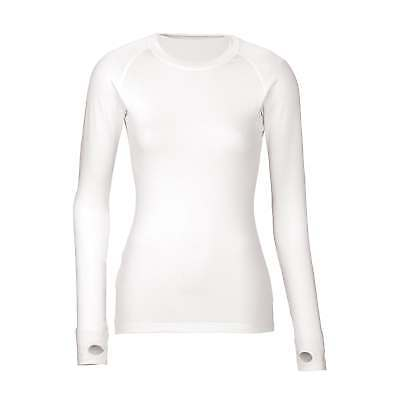 Kathmandu ultraCORE Womens Thermal Long Sleeve Crew Neck Base Layer Top White