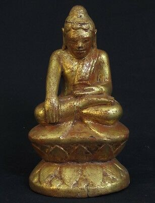 Antique Wooden lotus Buddha statue from Burma | Buy Antique Buddha Statues