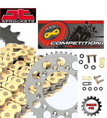 Aprilia 125 RS Extrema 04-05 GOLD Heavy Duty X-Ring Chain and Sprocket Kit Set