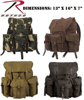 Military Style Cotton Canvas Mini Alice Pack Book Bag Rucksack Backpack 2897