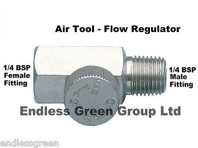 Air tool pressure regulator - fitted on end of air line hose before tool     038