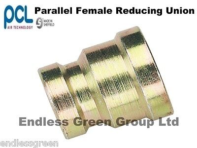 PCL Female Reducing Union - Air compressor / airline fitting 1/4 x 3/8 BSP   824