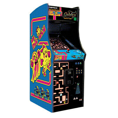Ms. Pac-Man & Galaga Upright Arcade Game - Chicago Gaming Home Version