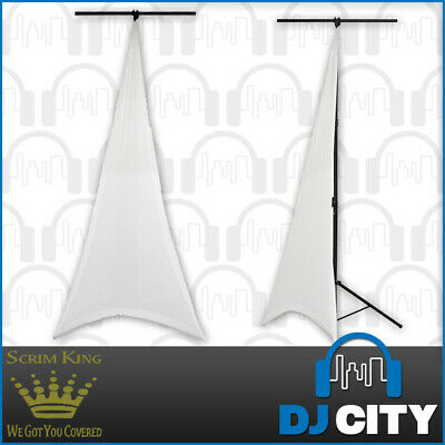 SCRIM KING Single Sided Lighting Stand Scrim in White - Lycra Stand Cover - D...