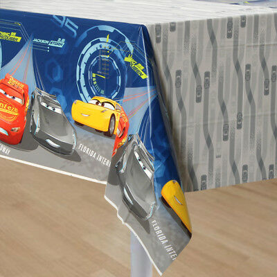 Disney Cars3 Lightning McQueen Birthday Large Table Cover  Party Supplies Decor