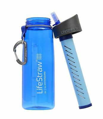 Lifestraw Go Life Straw Bottled Portable Outdoor Water Filter Genuine New Bottle