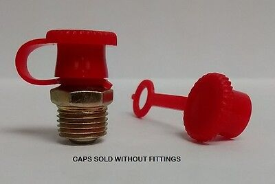 Dust Caps for Grease Zerk Nipple Fitting 25 Pieces Red